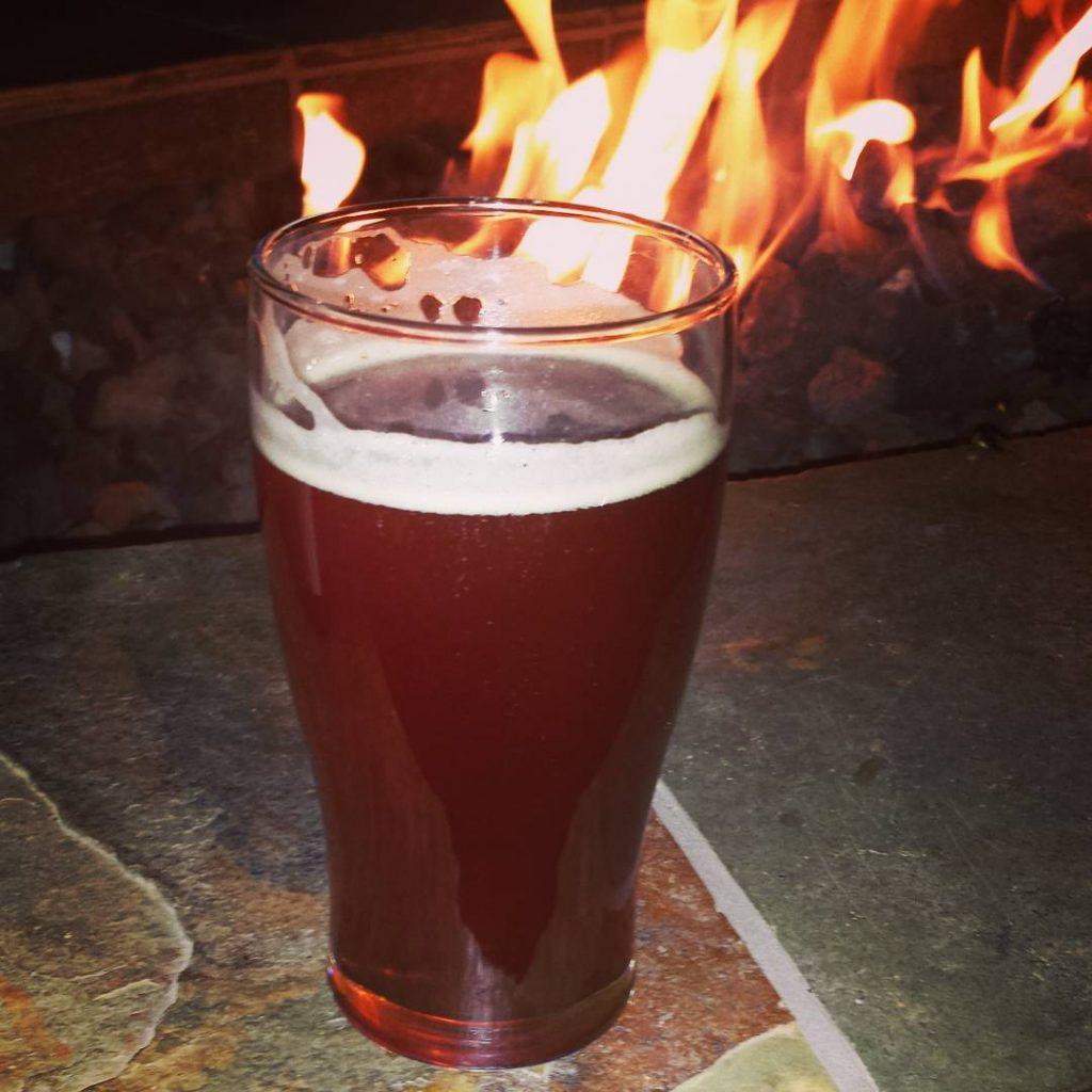 Enjoying a 6035 fireside! This draft beer is crafted specificallyhellip