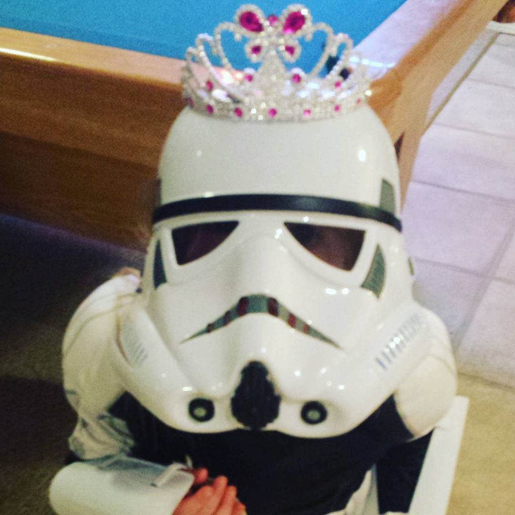 Who says a tiara doesnt compliment every outfit? StarWars StarWarsGirlhellip